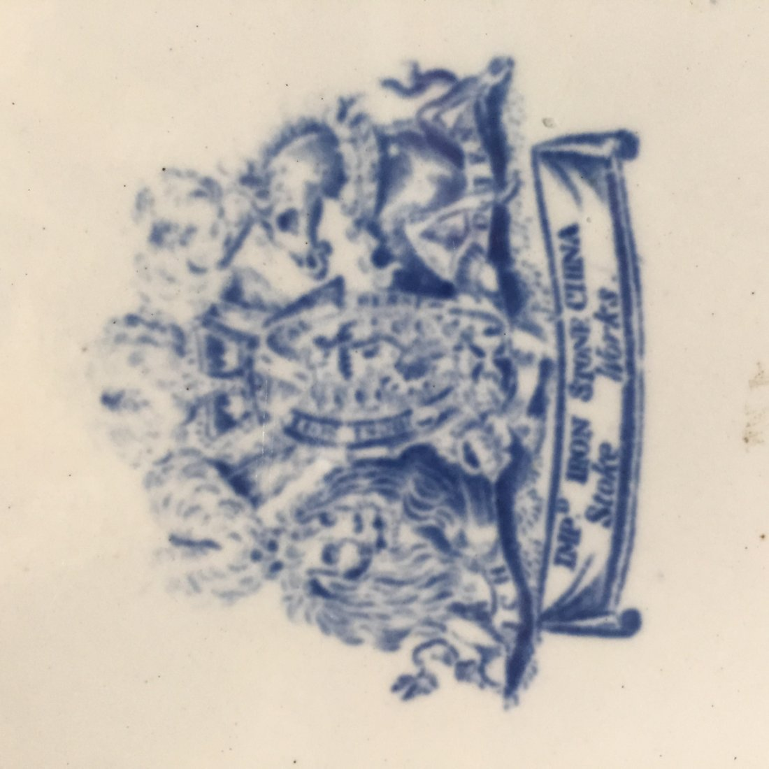 Two Ironstone Plates, One Warranted, One Stoke Works - 4