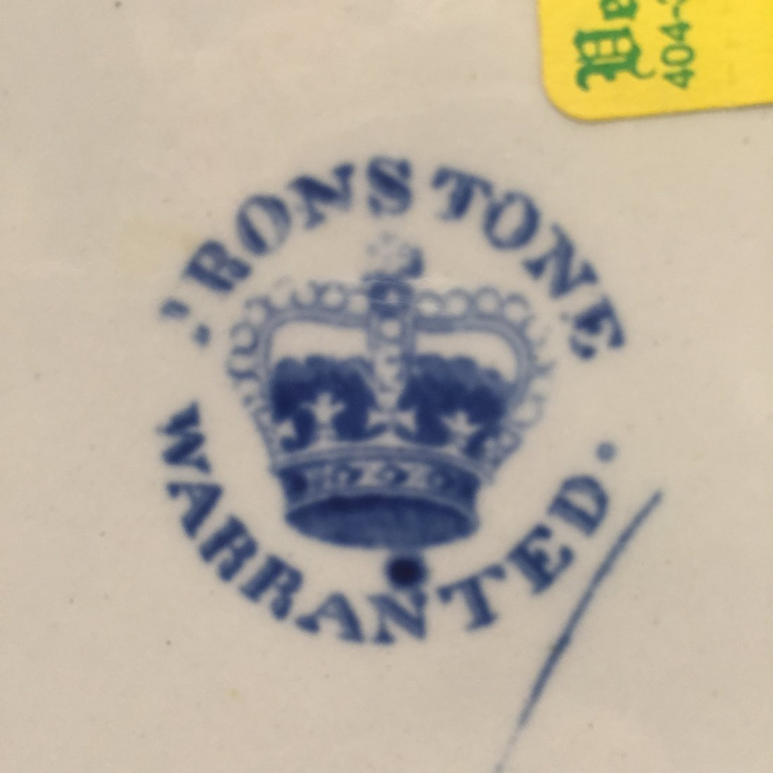 Two Ironstone Plates, One Warranted, One Stoke Works - 5