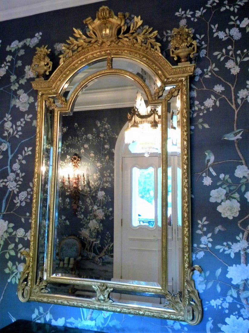 Large French 19th century Gilded Mirror