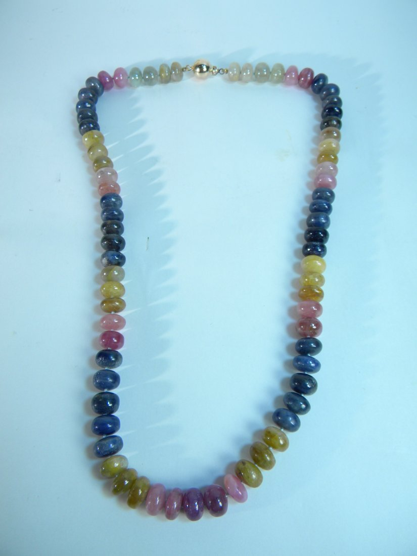 "20"" Multicolor Sapphire Necklace 500ct weight"