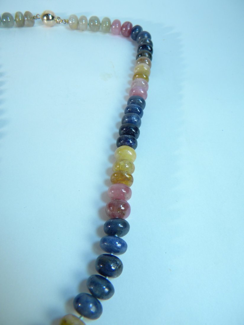 """20"""" Multicolor Sapphire Necklace 500ct weight - 2"""