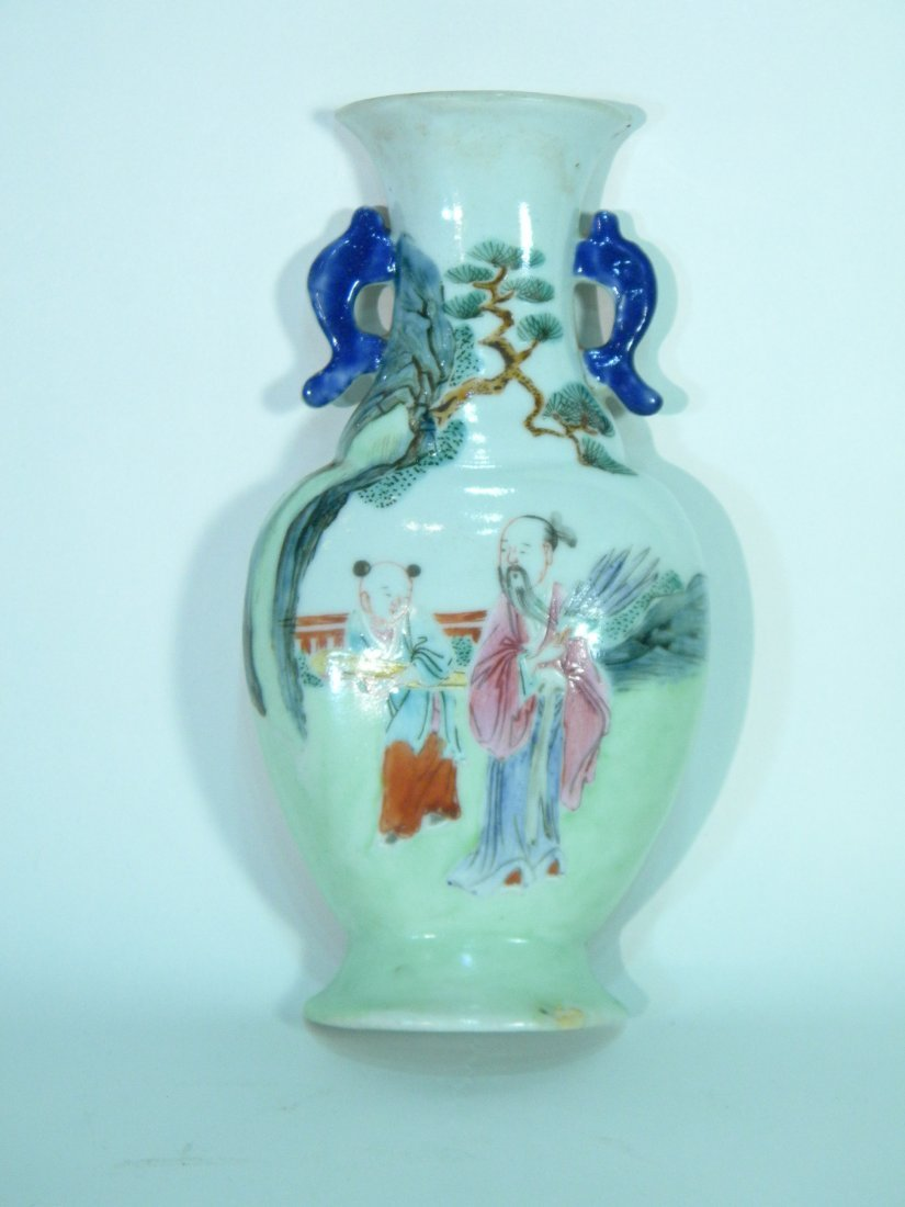 Chinese Export Vase Form Wall Pocket
