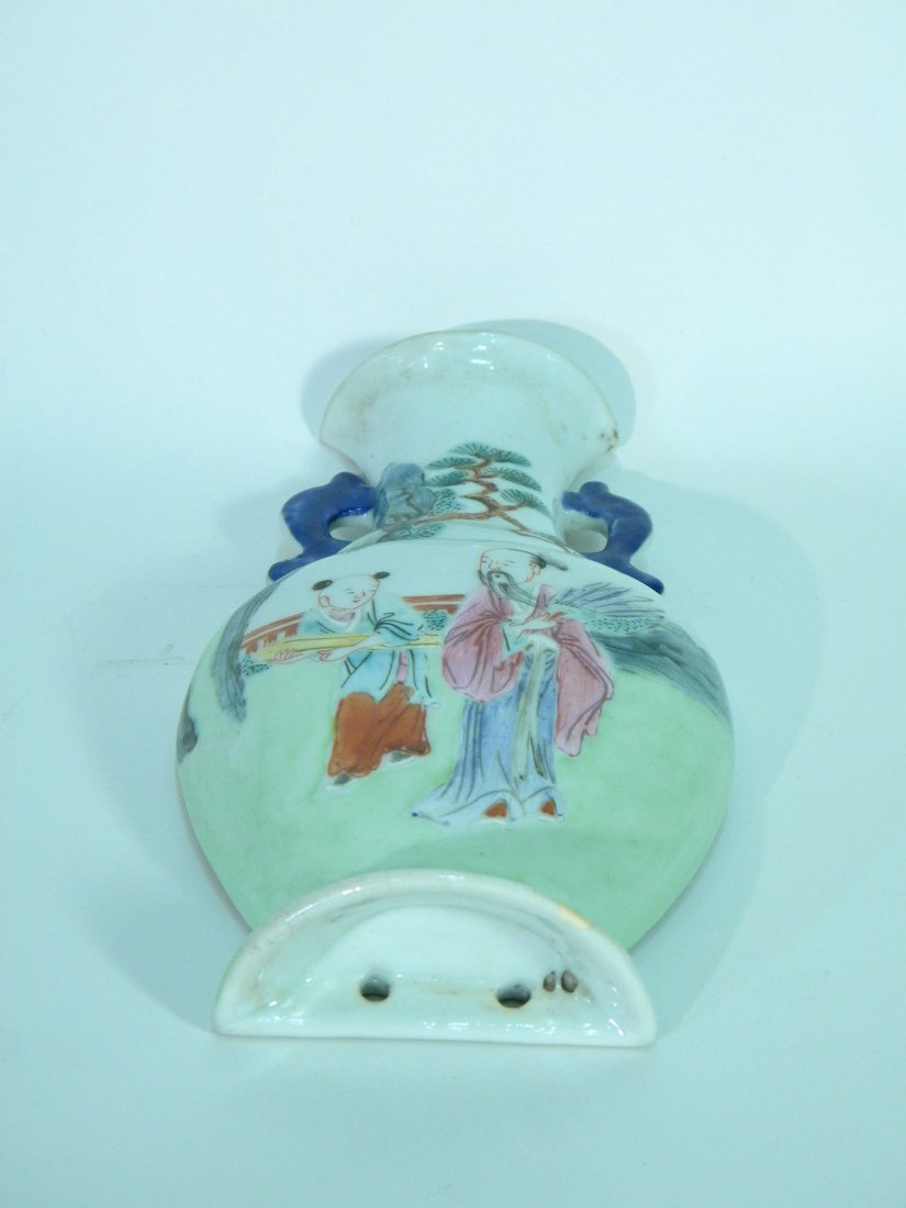 Chinese Export Vase Form Wall Pocket - 3