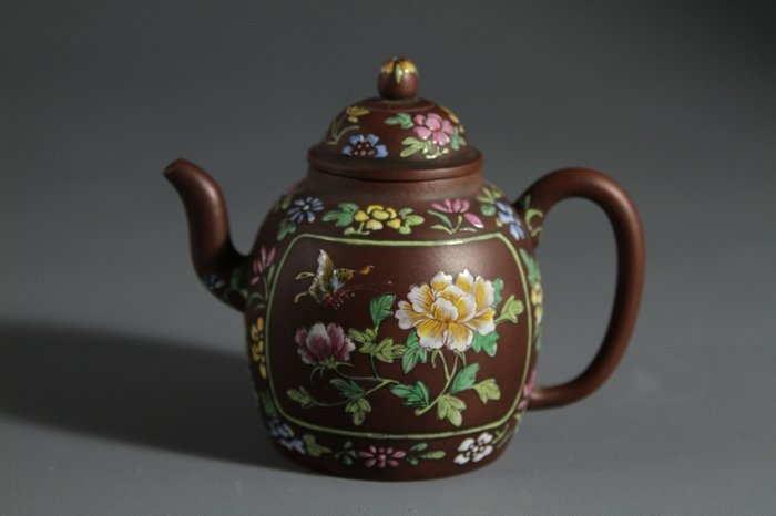 YiXing GaoPan Enamel Teapot With ZhouFaXiang Mark