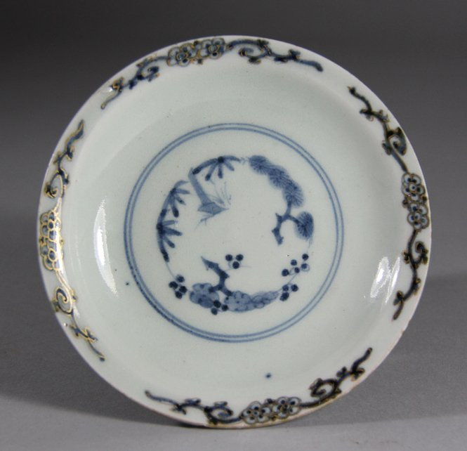 Late Ming  Blue Glazed Ground and Blue and White Porcel