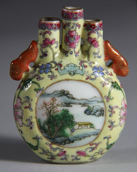 QianLong Mark Shinning Famille Rose Snuff Bottle