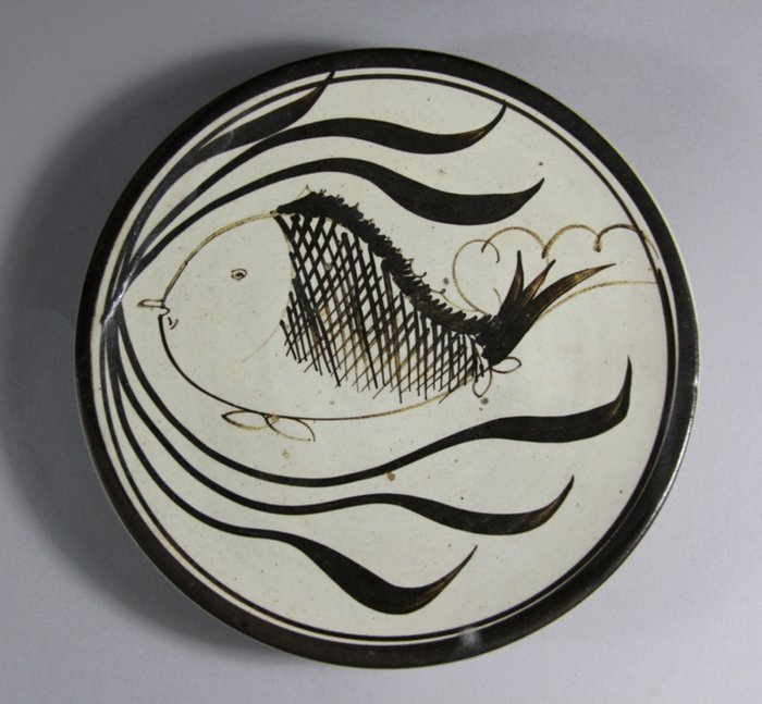 CiZhou Kiln Glazed Porcelain Plate