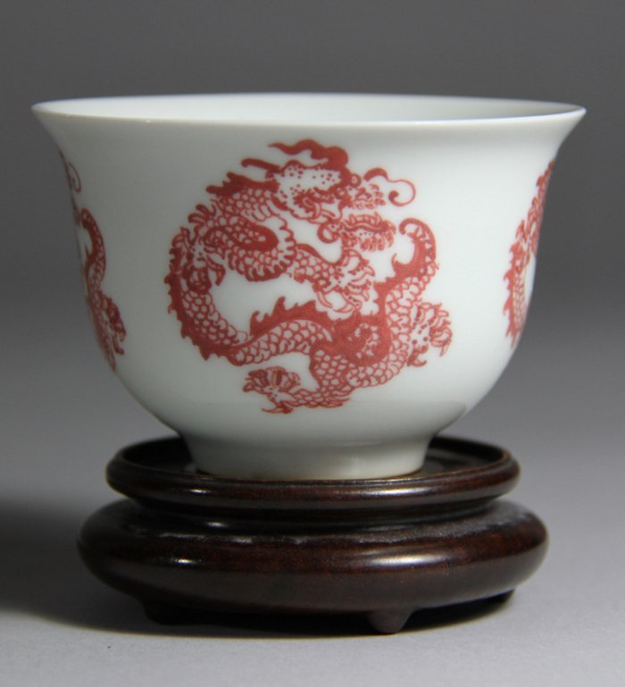 KangXi Mark Red Glazed Porcelain Cup