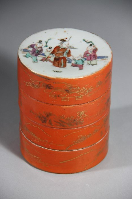 TongZhi Famille Rose Porcelain Box