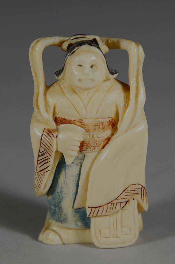 Ivory Woman Figure, Japanese Ivory Carving