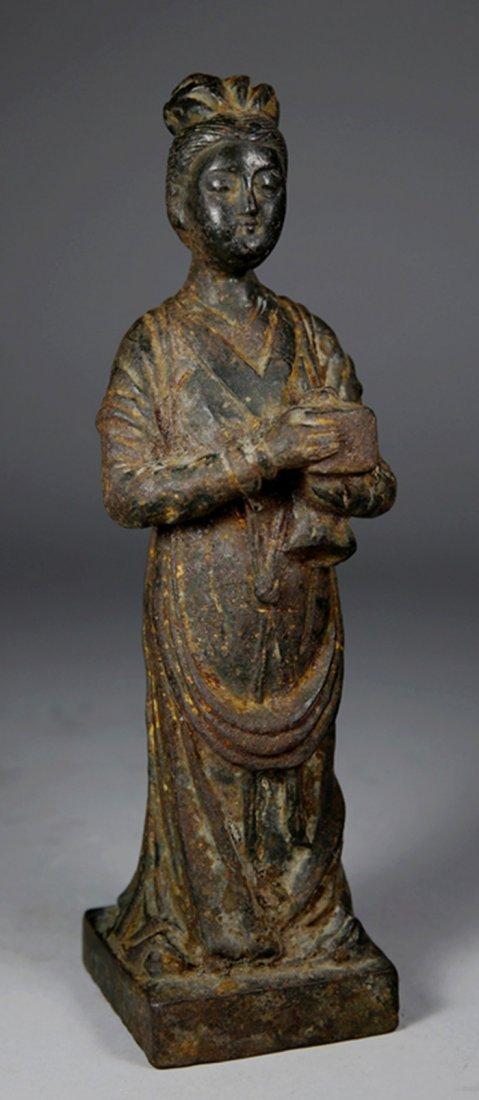 A Han Dynasty Bronze Figure Statue