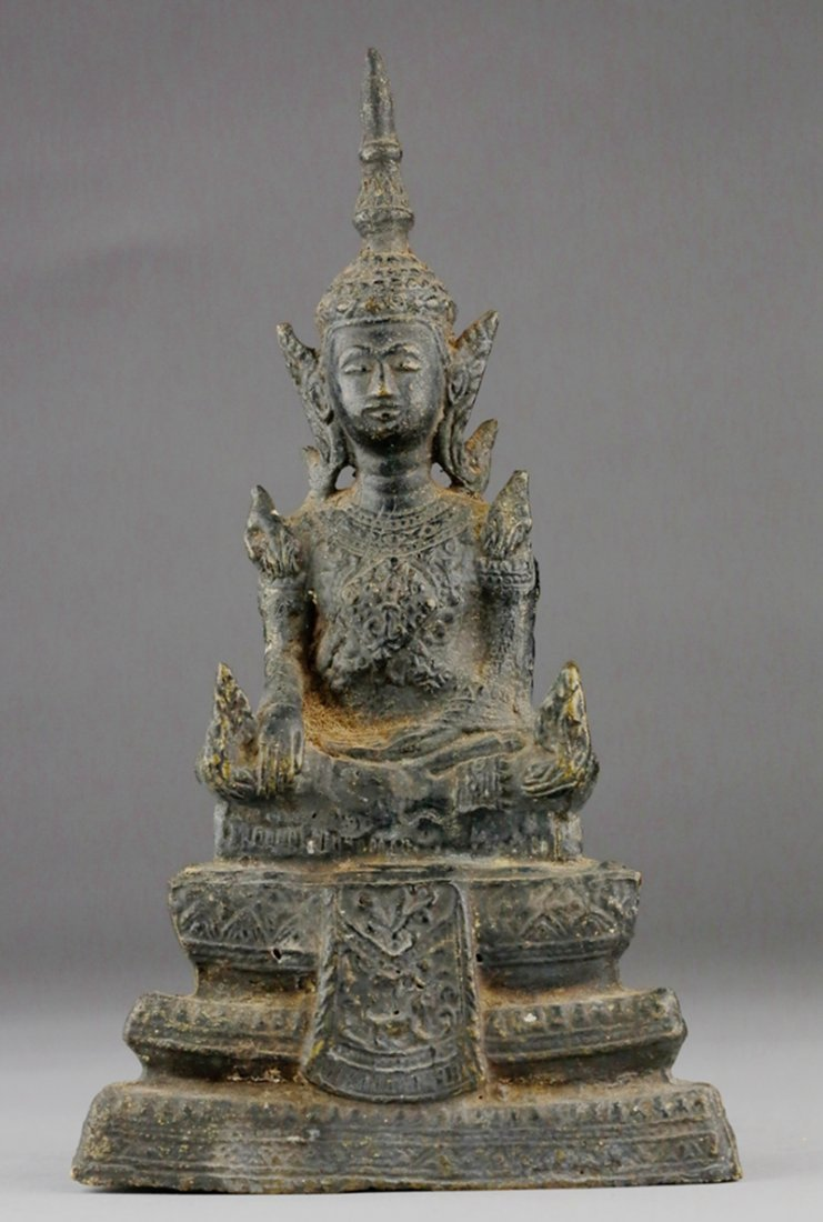 17TH CENTURY THAI METAL BUDDHA