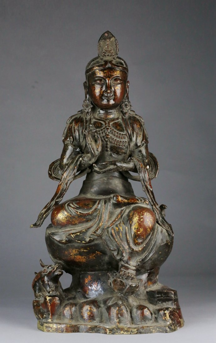 REPUBLIC PERIOD CHINESE BRONZE GUANYIN STATUE