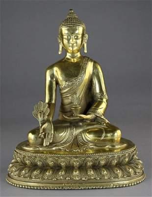 A BROZEN FIGURE OF AMITAYUS BUDDHA