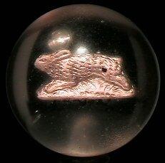 19: 67019 BB Marbles: Running Rabbit Sulphide