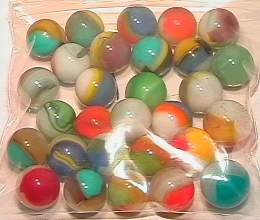65019 BB Marbles: 30 Vitro Agate Tigereyes