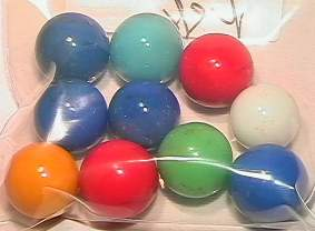 65020 BB Marbles: 10 Akro Opal Shooters