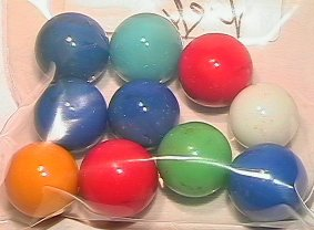 1020: 65020 BB Marbles: 10 Akro Opal Shooters