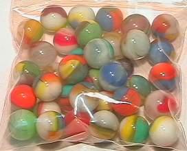 65021 BB Marbles: 40 Vitro Agate Tigereyes