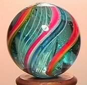 3051: 68051 BB Marbles: Latticinio Core Swirl