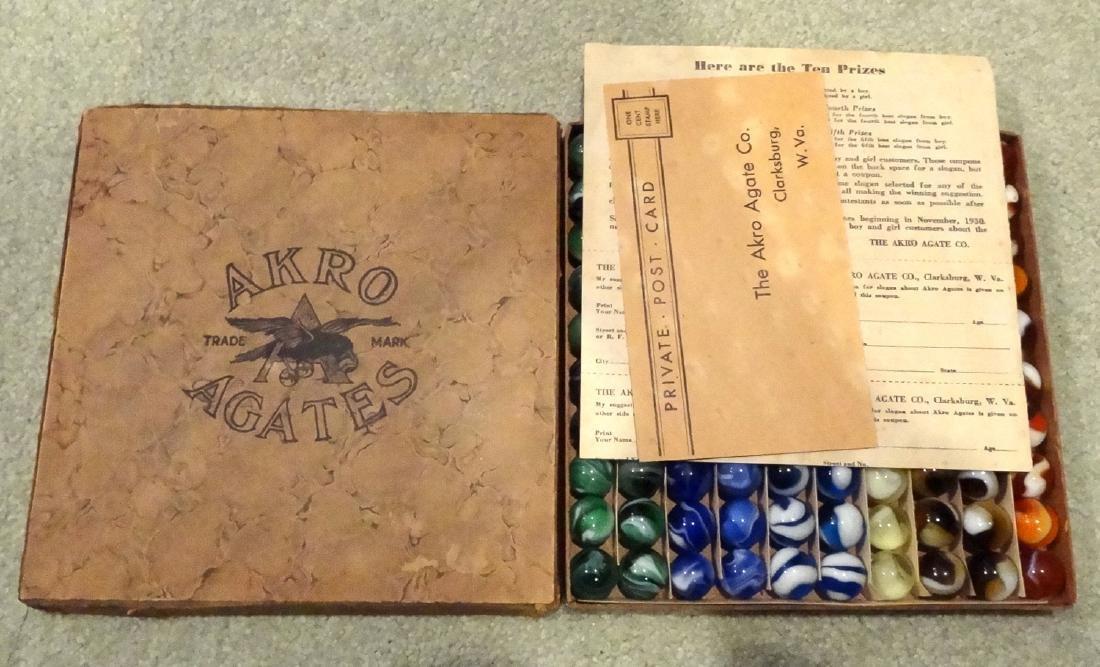 Lot 145.AKRO AGATE COMPANY, Original package. Striped