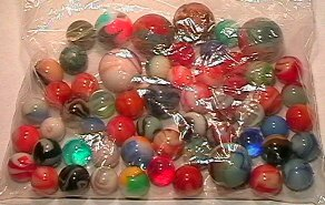 4005: 66005 BB Marbles: About 50 Machine Mades