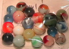 5020: 69020 BB Marbles: 21 Silver Run marbles