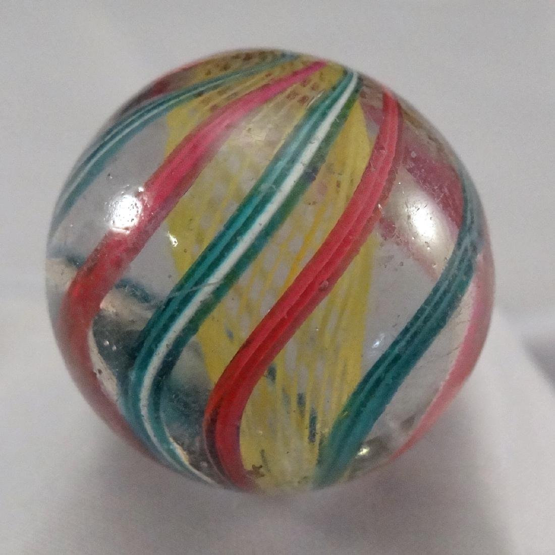 "Lot 81. SWIRL, Latticinio Core. 1-3/16"". 8.7"