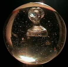 "1004: 69004 BB Marbles: Jenny Lind Sulphide 1-15/16""  S"