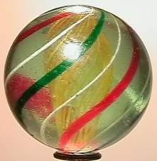 """69016 BB Marbles: Latticinio Swirl 1-15/16"""" 8.7"""