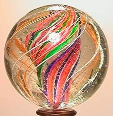 """69019 BB Marbles: Divided Core Swirl 1-11/16"""" 8.4"""