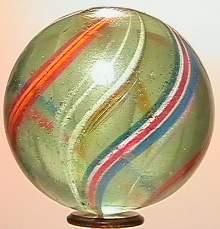 "69021 BB Marbles: Rare Solid Core Swirl 1-3/4"" 8."