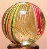 """1029: 69029 BB Marbles: Rare End of Cane Swirl 7/8"""" 9.5"""