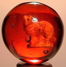 2011: 70011 BB Marbles: Colored Glass Cat Sulphide  SUL