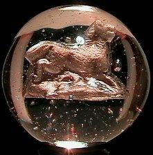 "2012: 70012 BB Marbles: Horse Sulphide 1-5/16"" Pol.  SU"