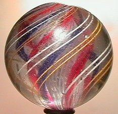 "2018: 70018 BB Marbles: Latticinio Swirl 2-1/4"" 8.0  SW"