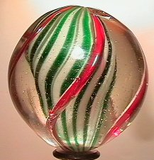 """2021: 70021 BB Marbles: Solid Core Swirl 1-7/8"""" Pol.  S"""