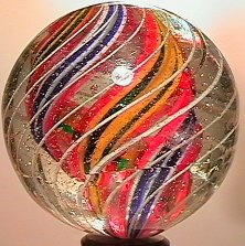 """2024: 70024 BB Marbles: Divided Core Swirl 1-11/16"""" 8.5"""