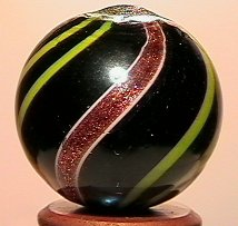 """2090: 70086 BB Marbles: Opaque Banded Lutz 25/32"""" 9.8"""