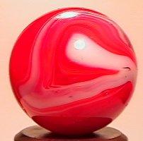 """69008: 69008 BB Marbles: Akro Red Slag 23/32"""" 9.9"""