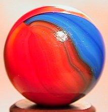 69012: 69012 BB Marbles: Akro Double-Ingot Tricolor Aga