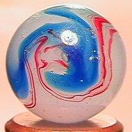 """69024: 69024 BB Marbles: Akro Blue Oxblood 21/32"""" 8.4"""