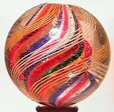 """69075 BB Marbles: Divided Core Swirl 1-9/16"""" 8.5"""