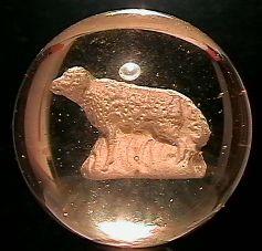 "69082 BB Marbles: Sheep Sulphide 1-13/16"" Pol."