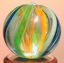 """68005: 68005 BB Marbles: Latticinio Swirl 11/16"""" 9.5"""
