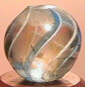 """68007: 68007 BB Marbles: Latticinio Swirl 17/32"""" 9.7"""