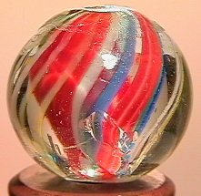 """68010: 68010 BB Marbles: Divided Swirl 11/16"""" 8.9"""