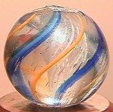 """68011: 68011 BB Marbles: Latticinio Swirl 17/32"""" 9.9"""