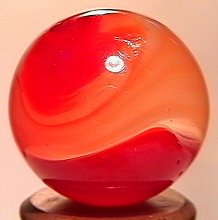 """68019: 68019 BB Marbles: Akro Carnelian 23/32"""" 8.9"""