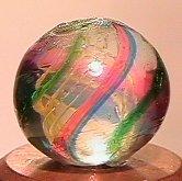 """68024: 68024 BB Marbles: Latticinio Swirl 1/2"""" 9.9"""